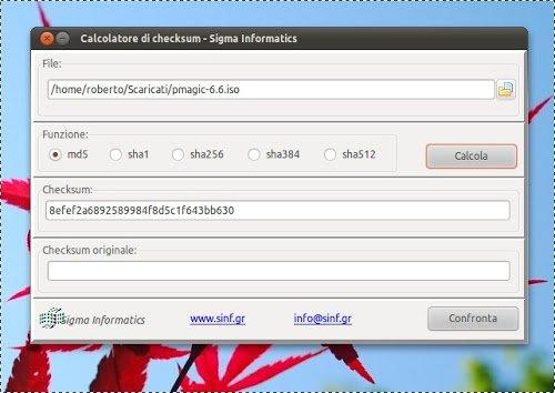 Checksums calculator: Calcolare o Verificare il checksum con