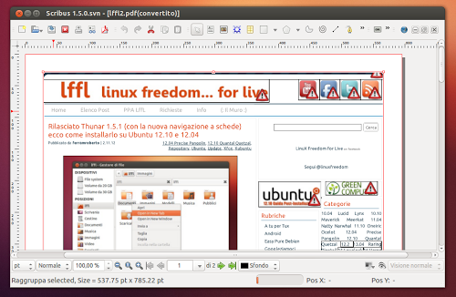 scribus linux