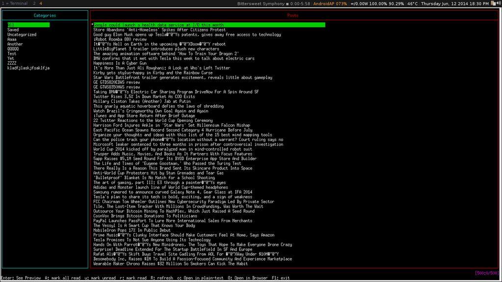 Feednix accedere a feedly da terminale linux for Software di progettazione di mobili gratuiti online