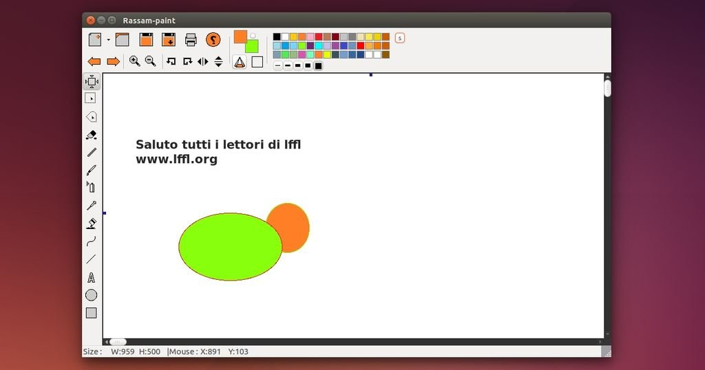 rassam alternativa a microsoft paint open source per linux