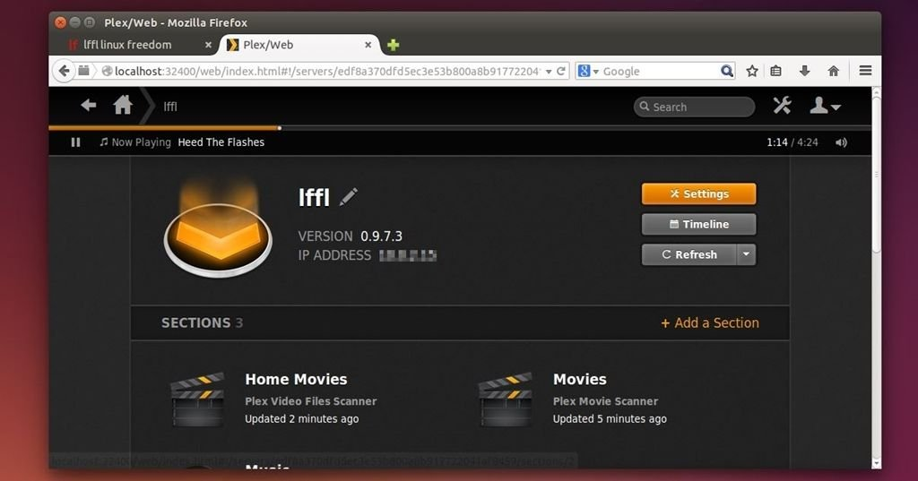 plex media server linux flash installer