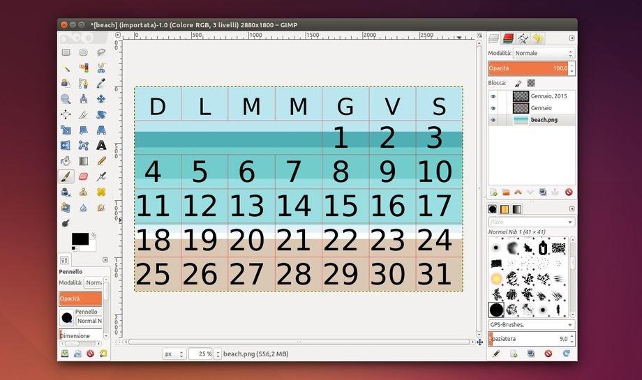 Come Fare Un Calendario.Creare Velocemente Un Calendario Con Gimp Lffl Org