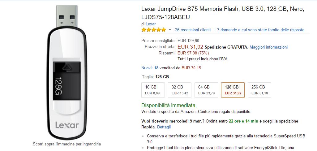 Amazon offerta lampo non posso acquistarla