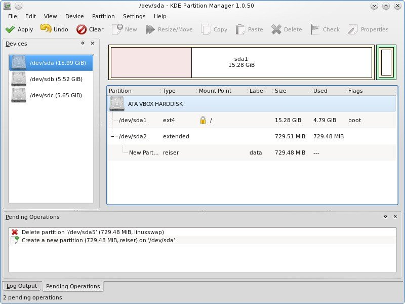 kde partition manager 2.2.0-1