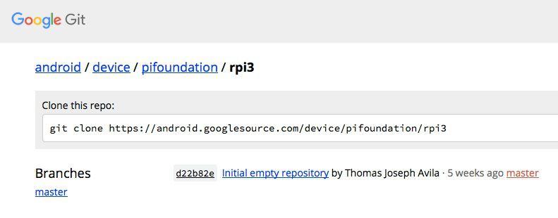 google raspberry