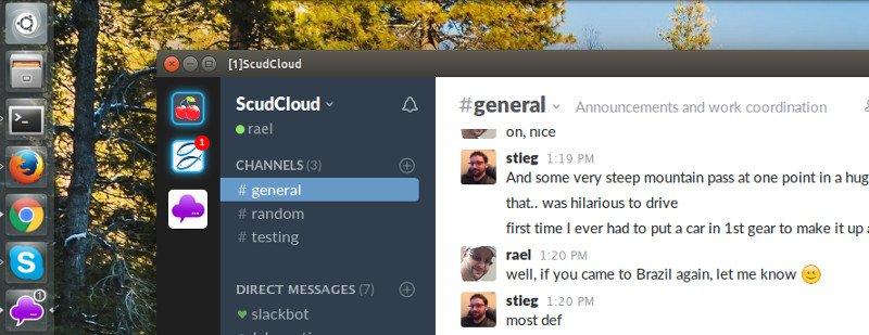 ScudCloud - slack