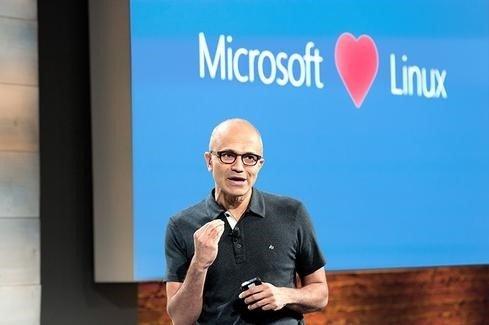microsoft loves linux