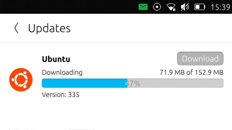 ubuntu updates panel OTA 13