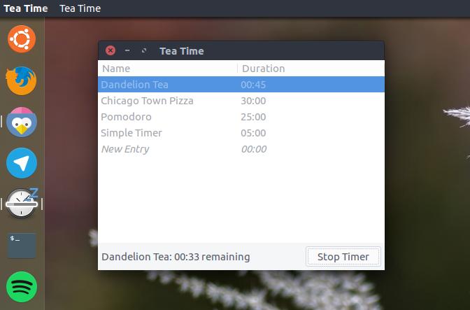 tea timer app-ubuntu
