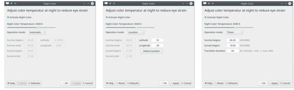 Night Color in arrivo su KDE Plasma? nightshift 1024x315 TechNinja