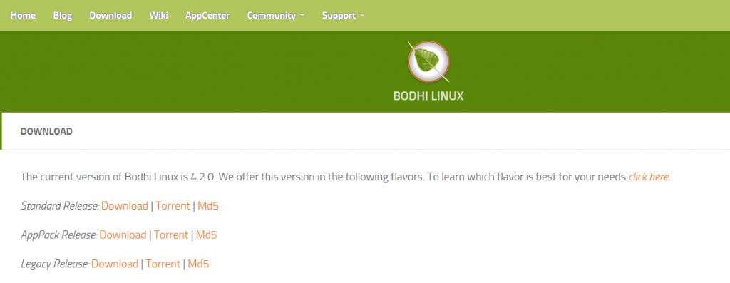 bodhi linux 4.2.0