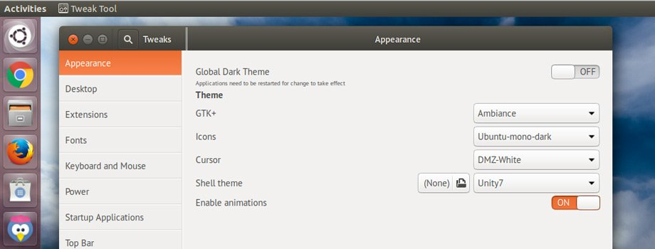 unity 7 gnome-shell-settings