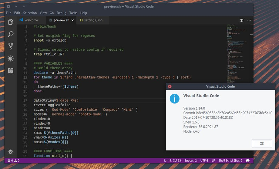 visual studio code 1.14