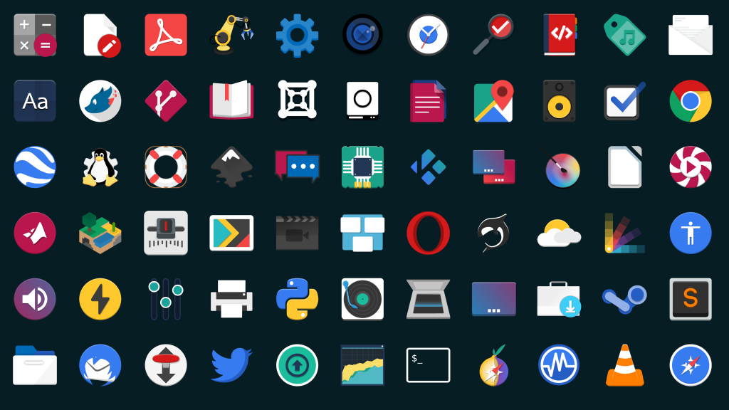 flat remix icon-theme