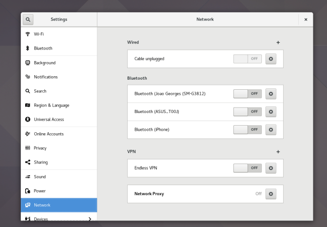 gnome settings network panel
