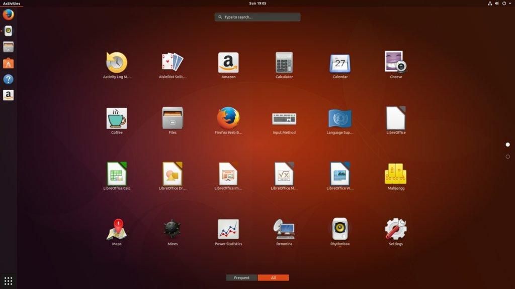 ubuntu app overview