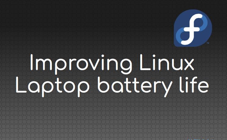 fedora linux batteria