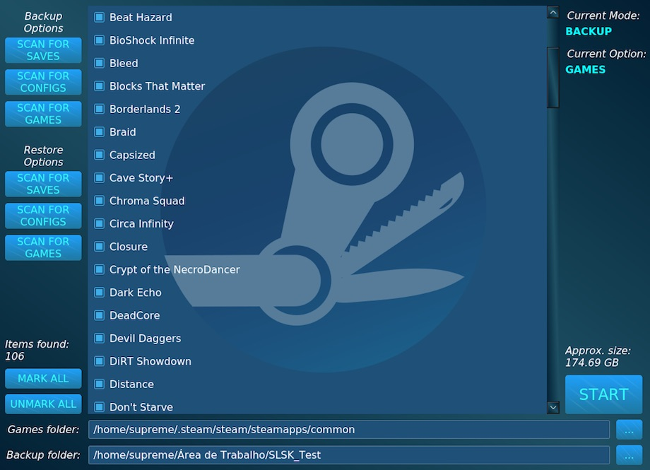 steam linux swiss-army-knife-game-save-app