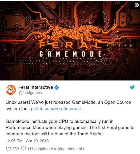 feral interactive gamemode tool