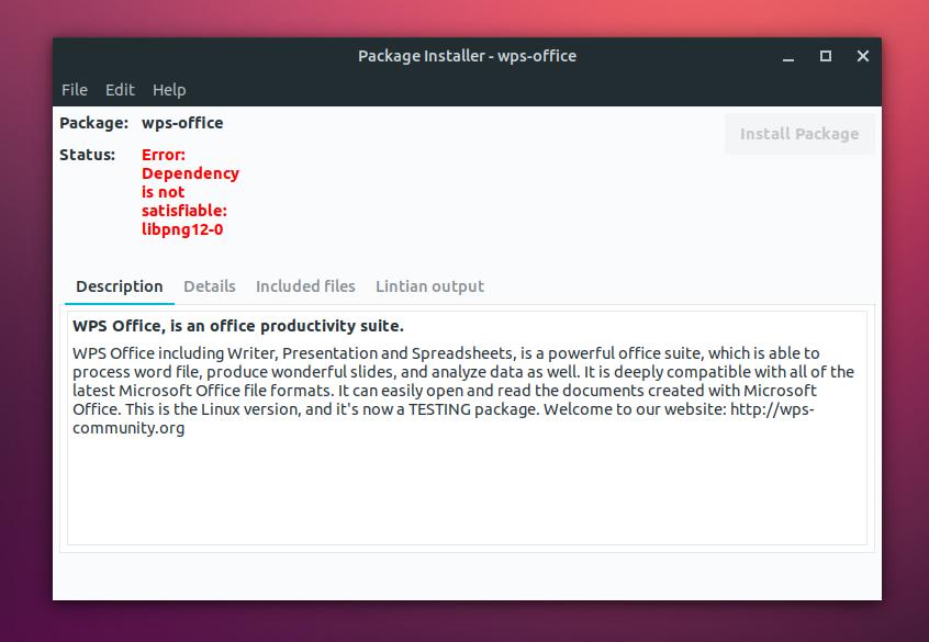 libpng12-0 error ubuntu 18.04