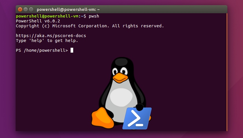 Linux and powershell