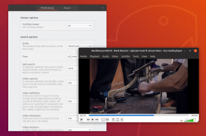 vlc youtube search provider gnome shell