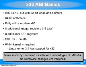 x32 abi linux
