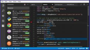 microsoft visual studio code snap