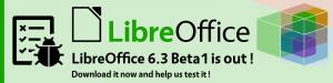 libreoffice 6.3 beta