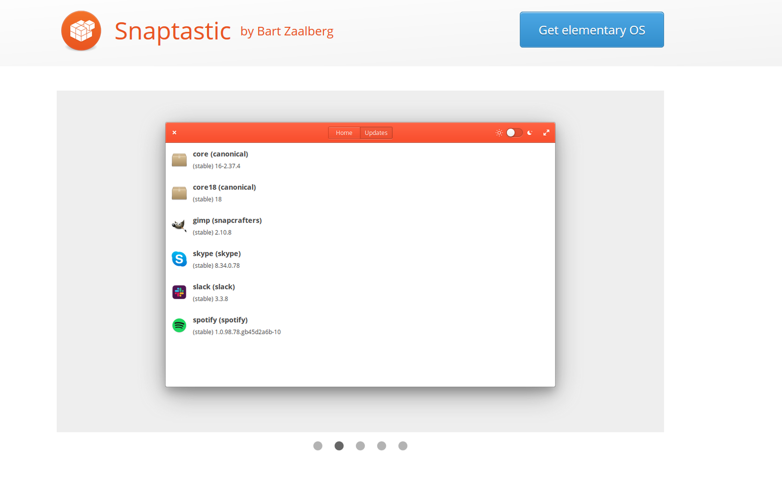 snaptastic snap app elementary os