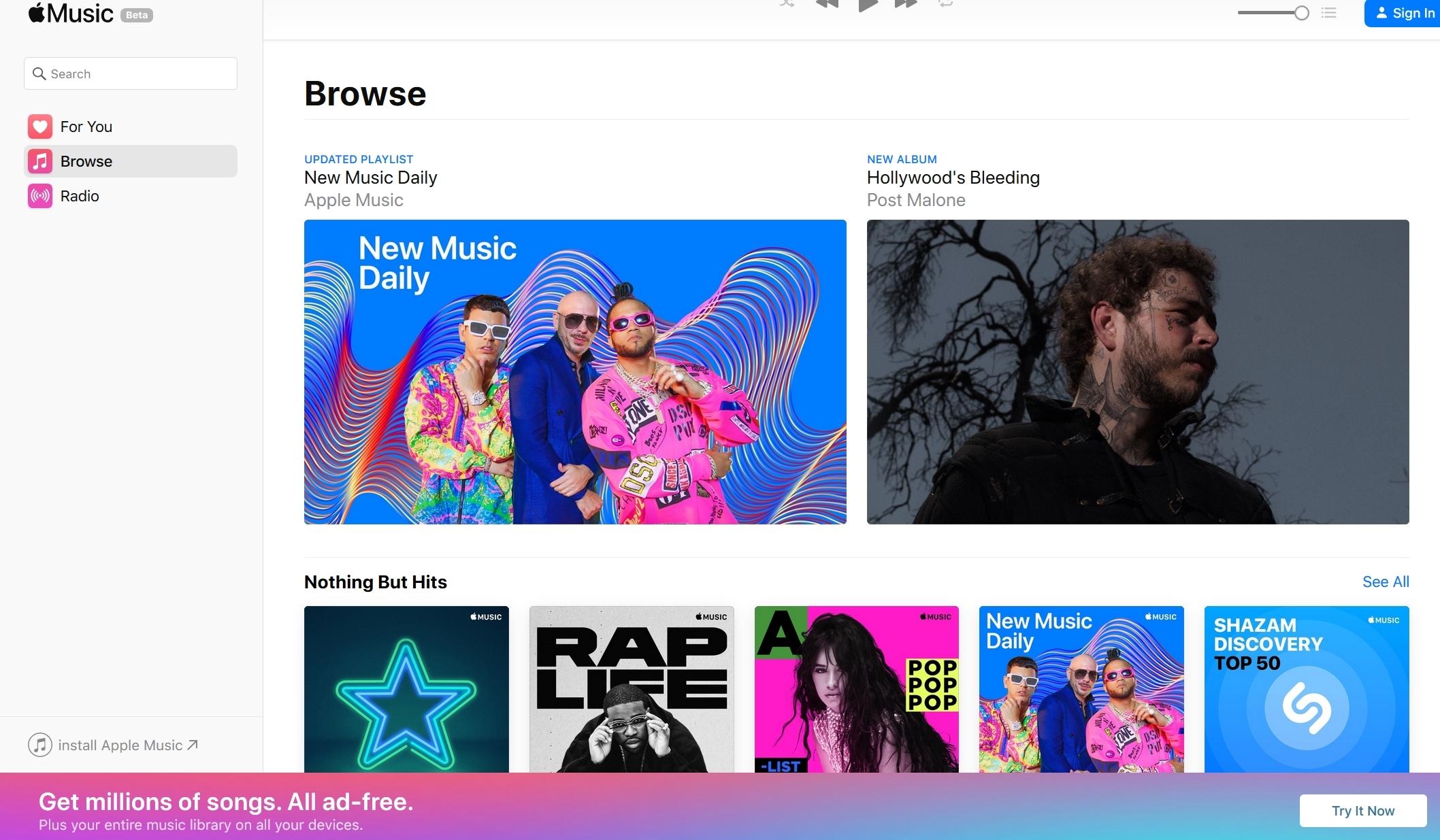 Apple Music arriva sul web, in beta