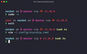 starship prompt linux