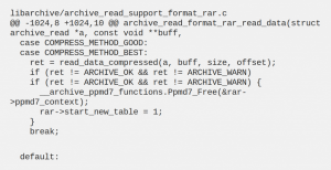 libarchive linux bug