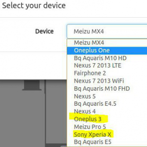 ubuntu touch dispositivi