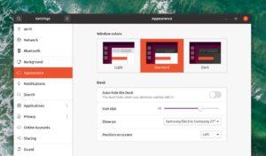 ubuntu 20.04 focal fossa tema dark
