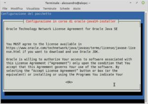 java 14 installer licenza ubuntu debian