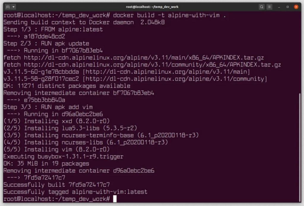 docker docker file open source