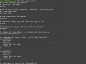 sysadmin logrotate linux
