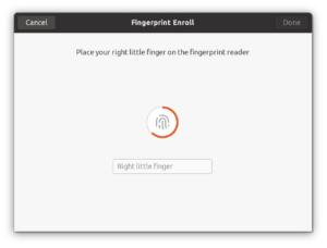 ubuntu 20.04 impronta digitale fingerprint