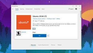 ubuntu 20.04 lts windows 10 microsoft store wsl