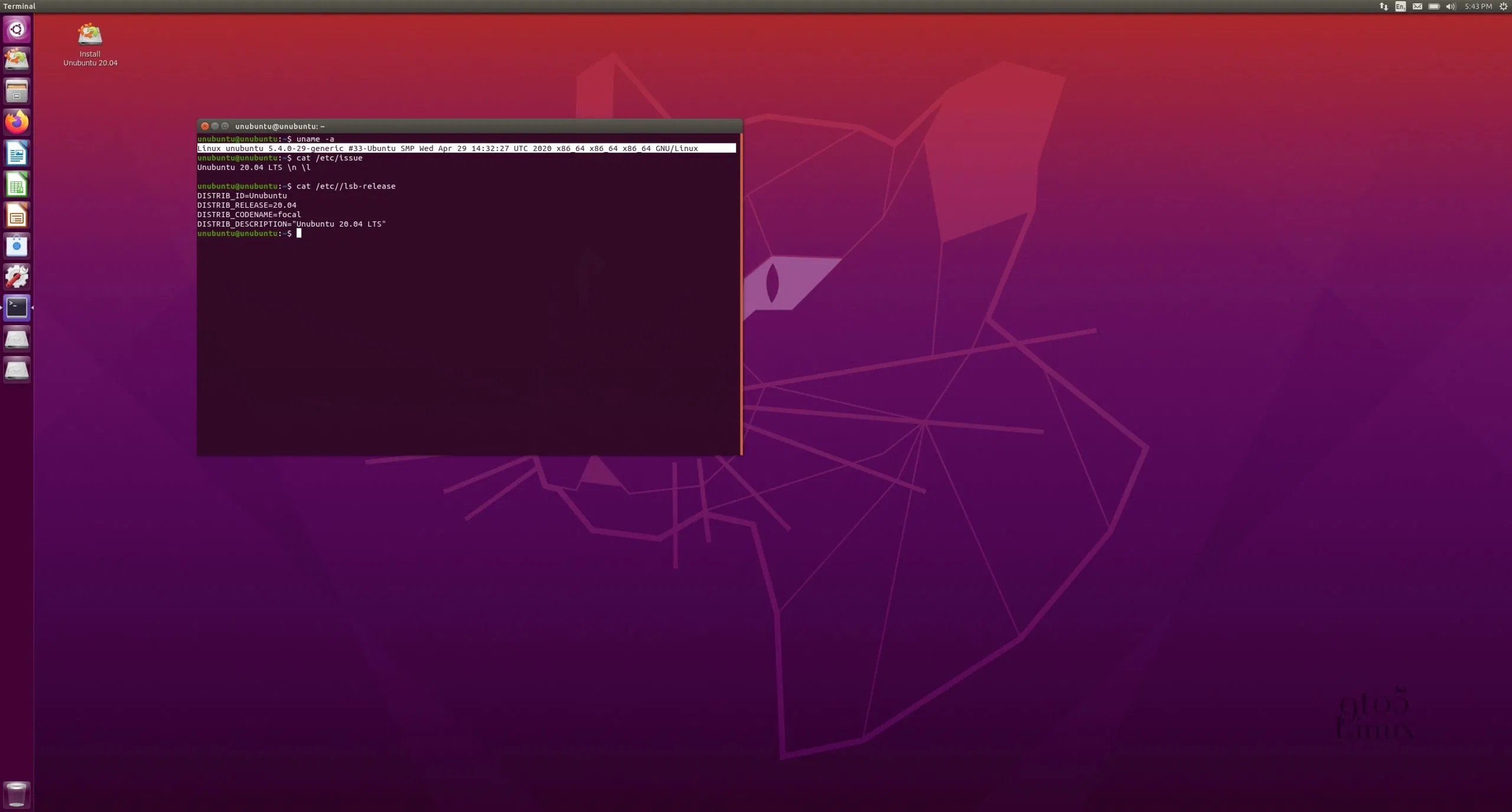 Ubuntu Unity Remix 20.04