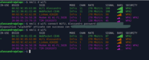 gnu/linux cli nmcli