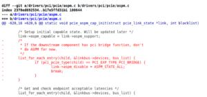 kernel linux aspm bug