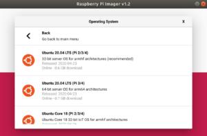 raspberry pi ubuntu 20.04 lts