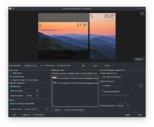 superpaper 2.0 gui screenshot