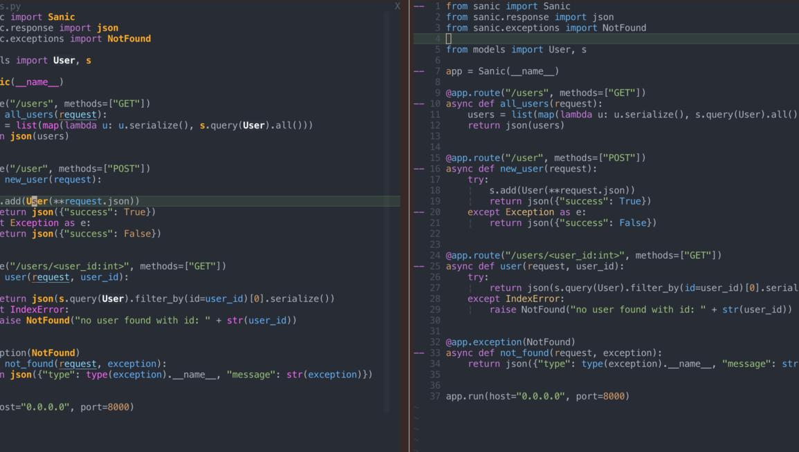 vim programming ide