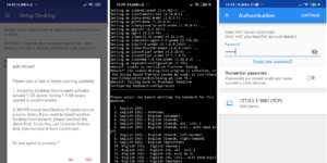 anlinux termux vnc viewer android gnu/linux kali