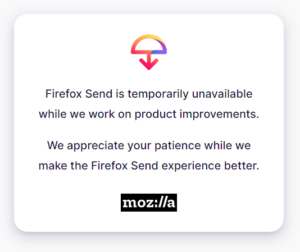 mozilla firefox send stop