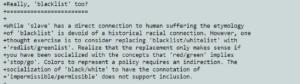 linux terminologia inclusiva mysql
