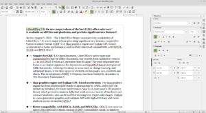 LibreOffice7 Writer StandardToolbar